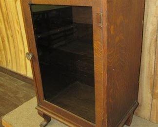 Oak Cabinet w/Claw Feet