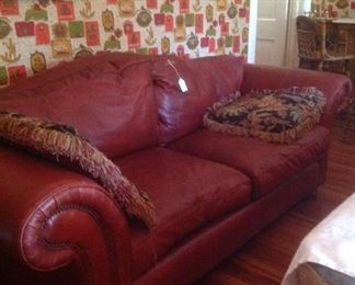 Taylor King leather sofa