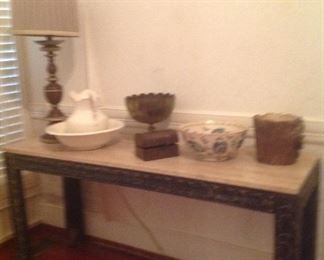 Entry table w/ marble like top