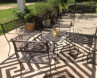 3 sets of wrought iron patio sets