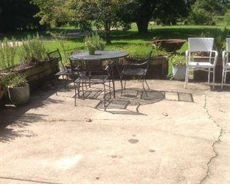 Vintage wrought iron patio sets