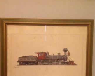 vintage locomotive picture