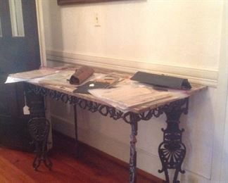 Shabby chic table & lots of vintage piano music