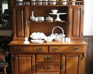 """""""Young Republic Group"""", Solid Maple Tall Hutch by Tell City Chair Co, Tell City, Indiana. There is a matching bar cart ( sold separately)."""