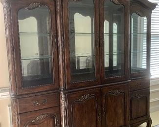 Lighted china cabinet by Hickory White