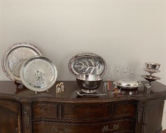 Silverplate serve ware