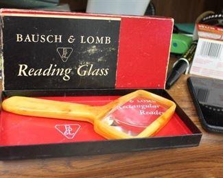 Bakelite reading glass Bausch & Lomb