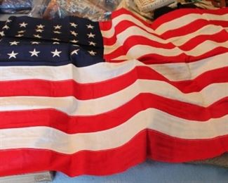 Vintage American flag with 48 stars (2)