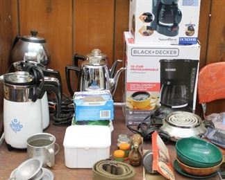 Sampling of the numerous coffee pots at this sale.