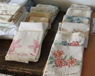 Embroidered pillow cases and more