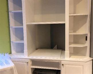 Beautiful portable handmade wood  corner unit!  FOR SALE!! Won't last:)