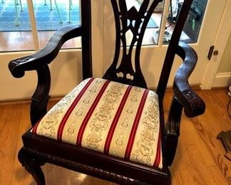 Reproduction Mahogany dinning room chair x2