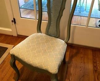 French painted dinning  room chair x6