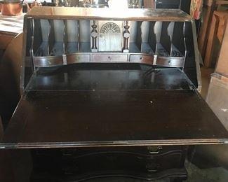 Inside of Vintage Secretary Desk