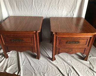 Pair of Cherry End Tables
