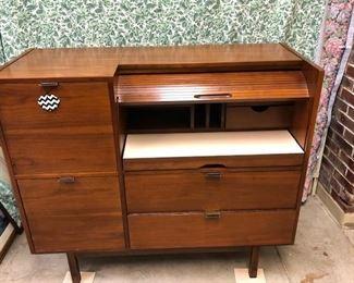 Mid Century Modern Roll Top Desk by Hooker Furniture