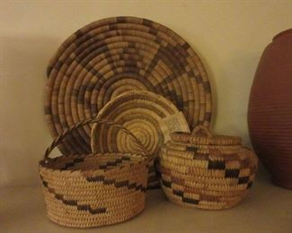 Small collection of American Indian baskets