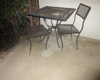 3 pc iron patio set