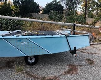 catamaran 16ft w/ trailer & sail