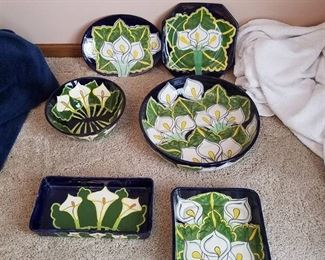 Assorted Ceramic dishes - made in Mexico