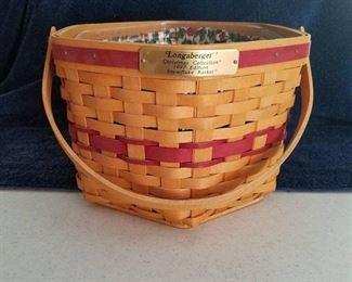 Longaberger Christmas collection 1997 Edition snowflake basket