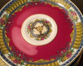 Minton brand china, set includes salad/desser plates, cups/saucers. Minton manufactures china for Tiffany's!