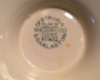 Wedgwood cream soup bowls with saucer