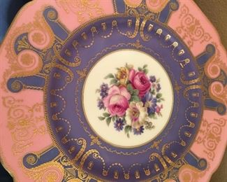 Spectacular dinner plates from German manufacturer Black Knight of Bavaria
