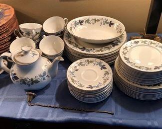 Royal Doulton porcelain china set; Burgundy pattern; excellent condition