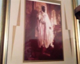 Rare, Large Print of Moorish Sheik/King (Exquisitely  framed)