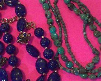 Lapis & Turquoise necklaces
