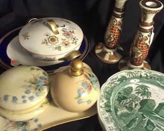 Selection of porcelain and ceramic