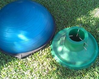 Bosu Balance Trainer ball, new costs $109, ours cost LESS!!!! & don't forget that tree stand, Christmas a comin