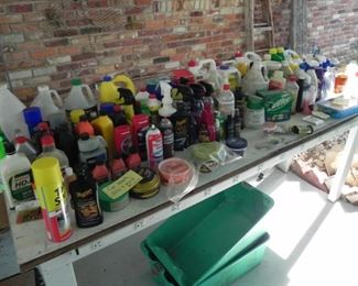 Tons of Cleaning, Car and Paint Supplies