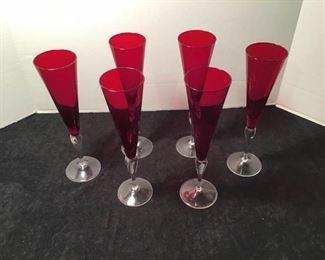 6 Champagne Flutes https://ctbids.com/#!/description/share/233956