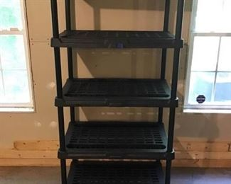 Sturdy Black Shelving Unit #2 https://ctbids.com/#!/description/share/233965