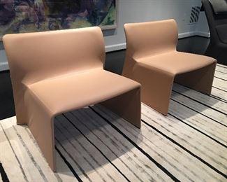 Minotti Furniture Leather Chairs