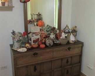 Nice dresser with fall decor