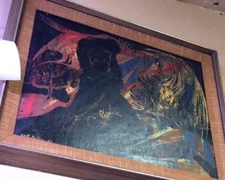 Artist signed oil