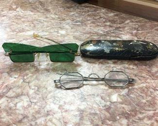 Fun, funky antique eyeglasses