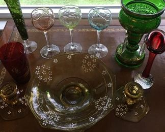 Lots of colored and bristol glass