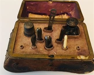 Early Sewing Caddy  German  date inside 1807