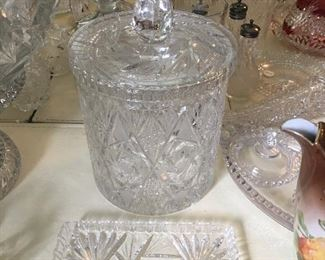 Lots of cut and pressed glass