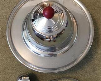 Vintage Chrome Punch Bowl