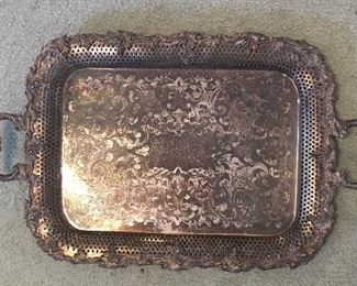 Ornate Silver Plate