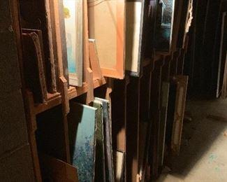 Racks of art