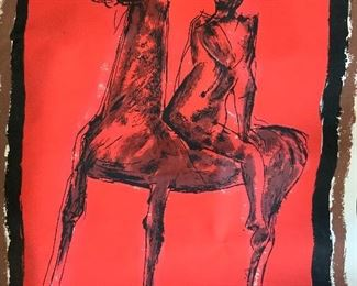Marino Marini screenprint