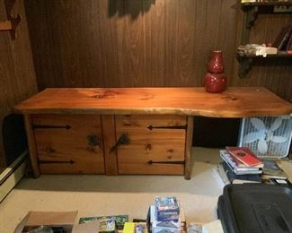 Steve Heller 1970s Free Edge Cabinet/Desk