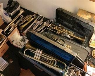 Trumpets: Jupiter 320421, Helmke 8015, Buescher Aristocrat 368456, Oxfords, Olds Ambassador A42466