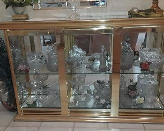 Large selection of elegance glass, cut glass and crystal.